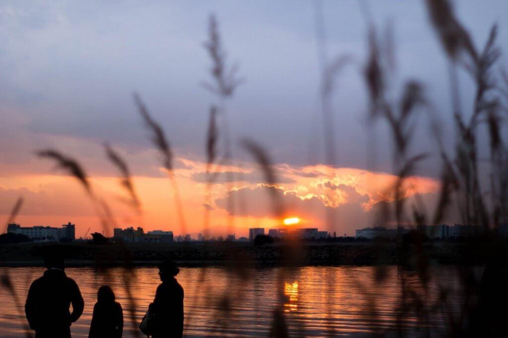 公園夕焼け